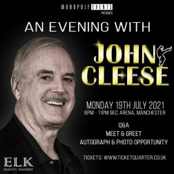 An Evening with John Cleese - Autograph Ticket (Entry Must be purchased as well)